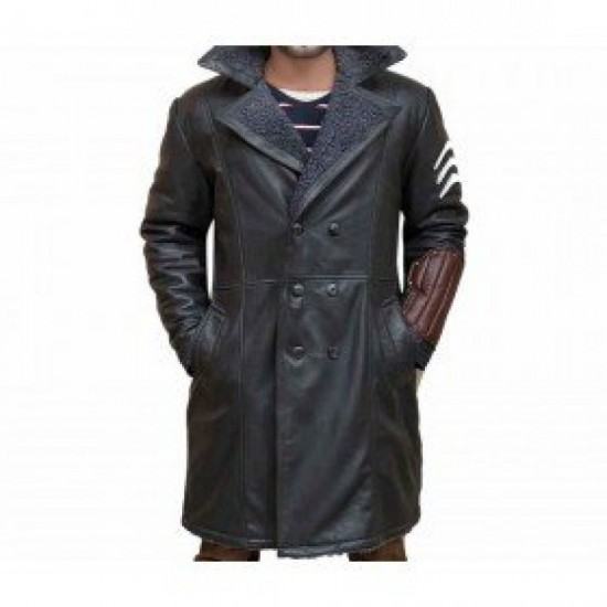 Suicide Squad Captain Boomerang Leather Trench Coat