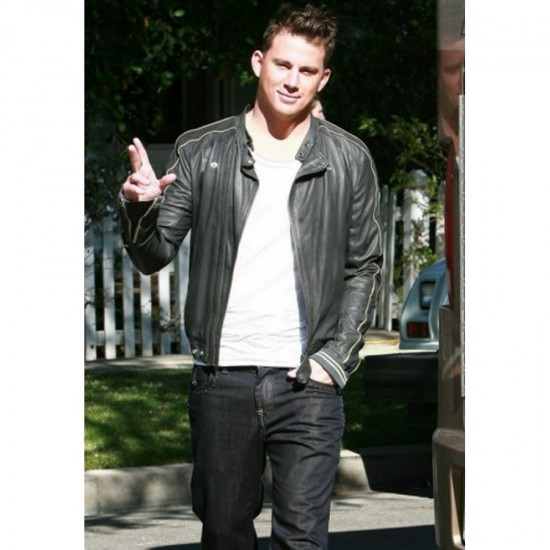 Biker Style Channing Tatum Leather Jacket