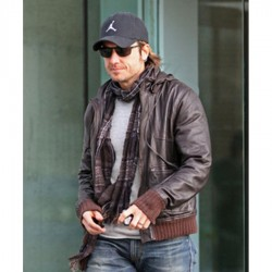 Biker Style Keith Urban Brown  Jacket