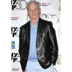 Bill Murray Black Leather Jacket