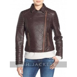 Andrew Marc Moto Leather Jacket with Removable Faux Fur Collar