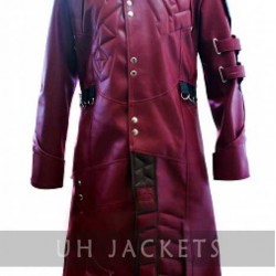 Guardians Of The Galaxy Red Leather Trench Coat