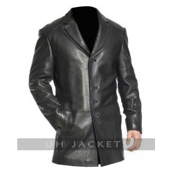 Three Button Front Closure Men Lambskin Jacket