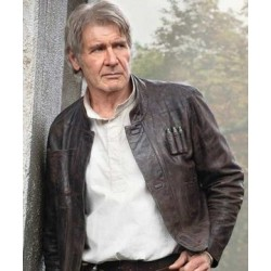 Star Wars Han Solo Brown Leather Jacket