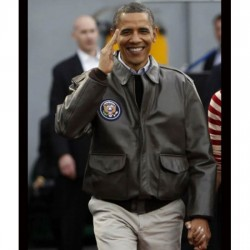 A 2 Flight Barack Obama Air Force Leather Bomber Jacket