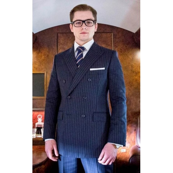 Kingsman Eggsy Double Breasted Suit