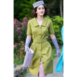 RACHEL BROSNAHAN THE MARVELOUS MRS. MAISEL LIGHT GREEN COAT