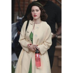 THE MARVELOUS MRS. MAISEL RACHEL BROSNAHAN BEIGE COAT