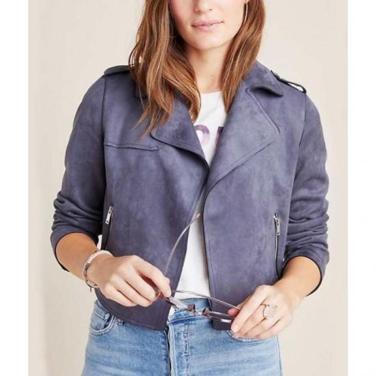 13 Reasons Why Season 4 Jessica Davis Grey Moto Jacket