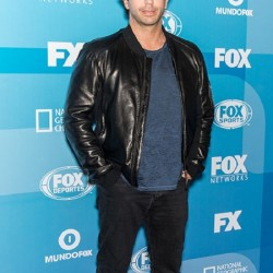 American Assassin Taylor Kitsch Ghost Black Leather Jacket