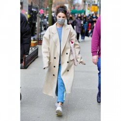 Selena Gomez Only Murders In The Building Mabel White Cotton Coat
