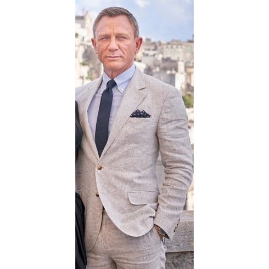 James Bond No Time To Die White Linen Suit