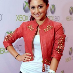 Ariana Grande Red Leather Jacket
