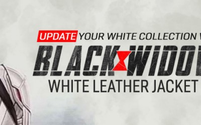 Update Your White Collection With Black Widow White Leather Jacket