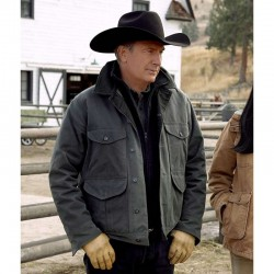 Kevin-Costner-Yellowstone-S02-Green-Jacket
