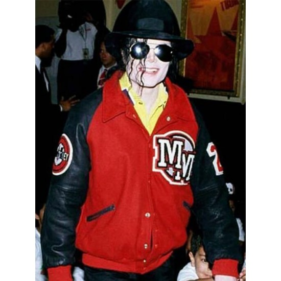 Michael Jackson Mickey Mouse Red Jacket