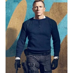 No Time To Die James Bond Blue Sweater