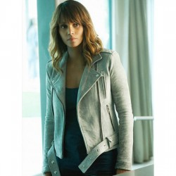 Halle Berry Extant Suede Leather Jacket