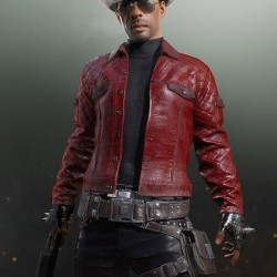 Playerunknown's Battlegrounds Red Leather Jacket