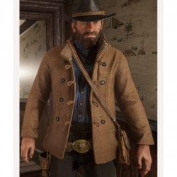Red Dead Redemption 2 Brown Shearling Scout Jacket