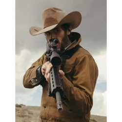Yellowstone Lee Dutton Brown Cotton Jacket
