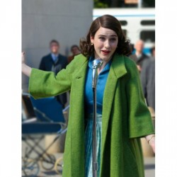 MIRIAM MAISEL THE MARVELOUS MRS. MAISEL GREEN COAT