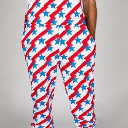Men's USA Pajamaralls