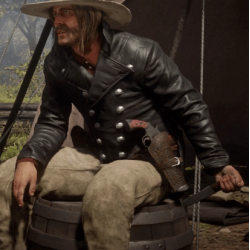 Red Dead Redemption 2 Micah Bell Tail Black Leather Coat