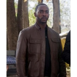 The Falcon and the Winter Soldier Sam Wilson Brown Leather Jacket
