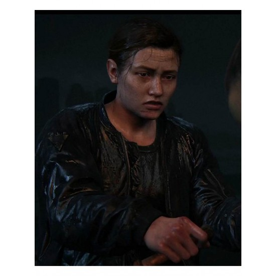 Abby Anderson The Last Of Us Part II Black Leather Jacket