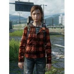 The Last Of Us Part II Ellie Black And Red Checked Hoodie