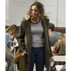 13 Reasons Why Jessica Davis Fur Hooded Coat