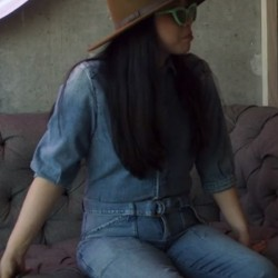Awkwafina is Nora From Queens Nora's Denim Jumpsuit