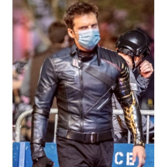 Sebastian Stan The Falcon and The Winter Soldier Leather Jacket