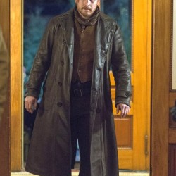 Yellowstone Cole Hauser Leather Long Coat