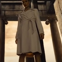 Zack Snyder's Justice League Diana Prince White Coat