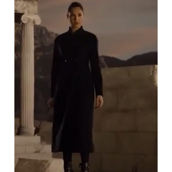 Zack Snyders Justice League 2021 Gal Gadot Black Coat